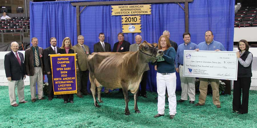 Ratliff Price Alicia was named the inaugural Supreme Champion of the North American International Livestock Exposition in 2009 and earned the laurels again in 2010.