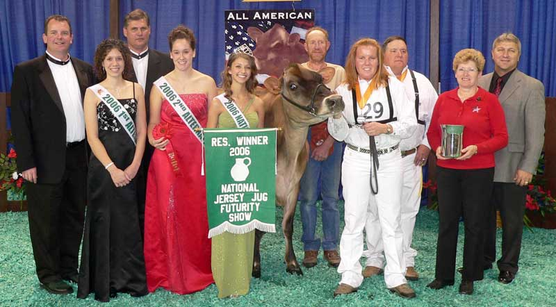 Ratliff D Dean Allie-ET was named Reserve Winner of the National Jersey Jug Futurity in 2006.
